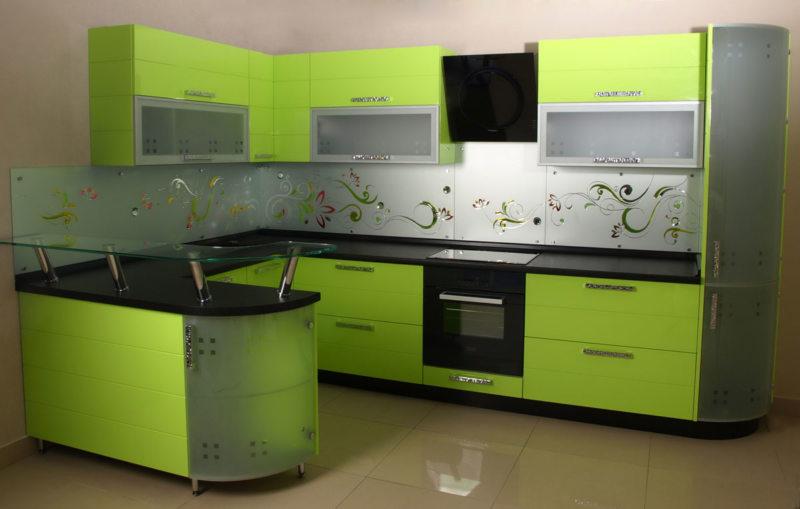 кухня в фисташковом цвете 1 (47)