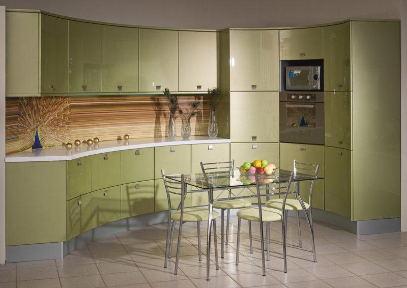 кухня в фисташковом цвете 1 (48)