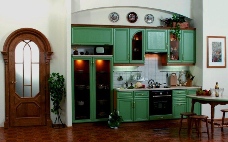 кухня в фисташковом цвете 1 (5)