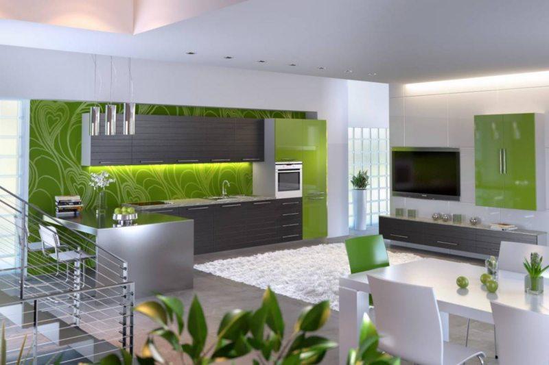 кухня в фисташковом цвете 1 (53)