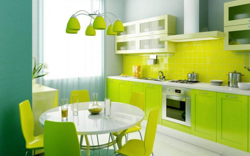 кухня в фисташковом цвете 1 (54)