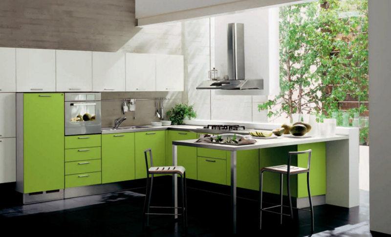 кухня в фисташковом цвете 1 (57)