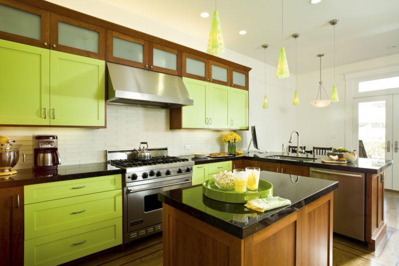 кухня в фисташковом цвете 1 (58)