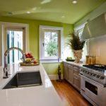 кухня в фисташковом цвете 1 (6)