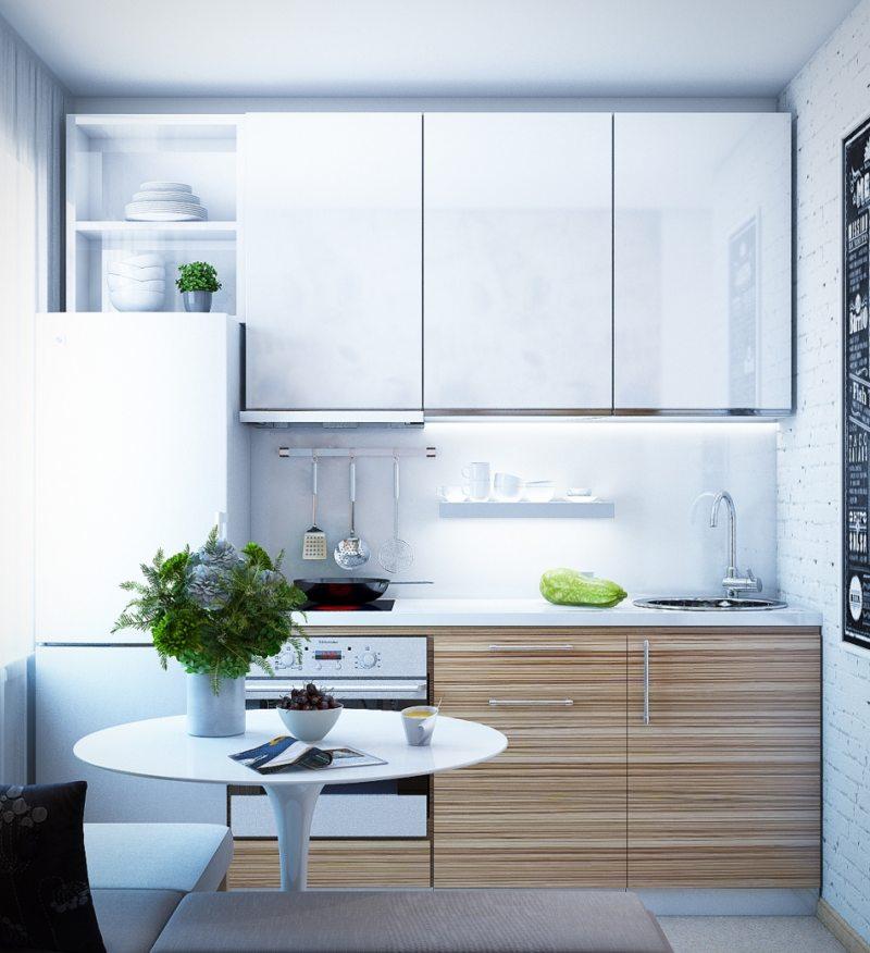 Красивый дизайн кухни в хрущевке: 100 фото дизайна маленькой кухни