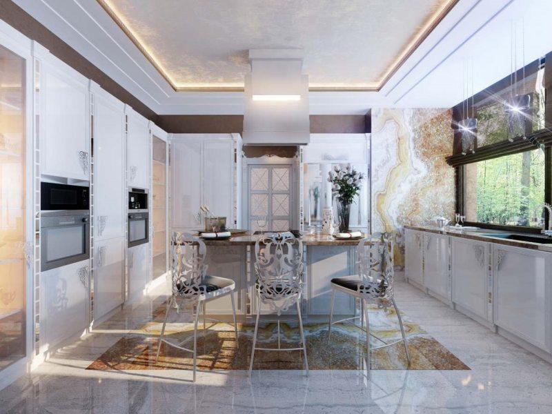 Кухня в стиле фьюжн - стильный дизайн с изюминкой (70 фото)