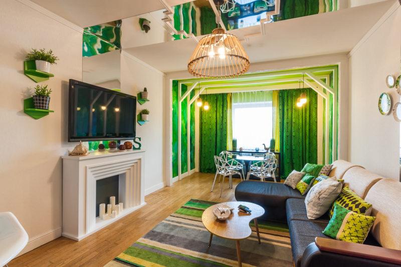 living <i>интерьер в темно-зеленых тонах фото</i> room (15)