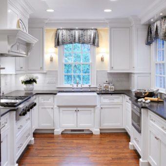 П-образная кухня: уютный и функциональный дизайн кухни (80 фото)