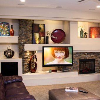 Потолки из гипсокартона для гостиной: разновидности, форма, особенности дизайна +65 фото