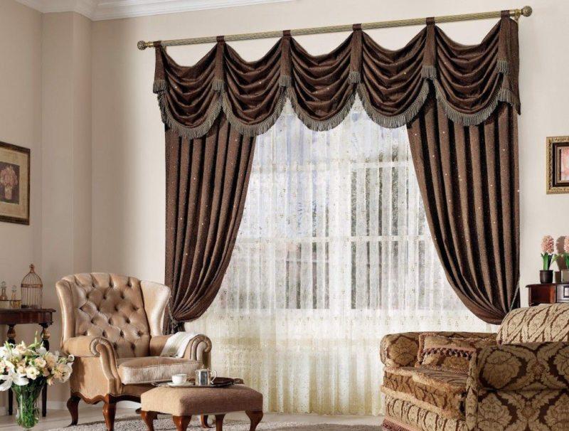 шторы в гостинной (40)