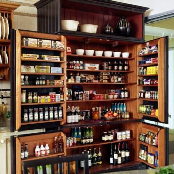 Зона хранения на кухне — используем пространство с умом! 65 фото примеров от профи!