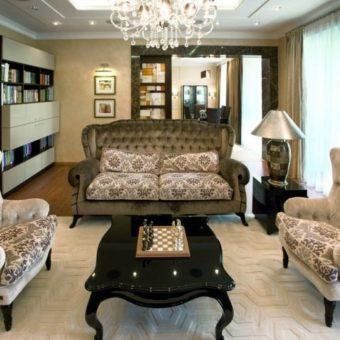 Гостиная в стиле арт-деко — 70 фото лучших вариантов необычного дизайна