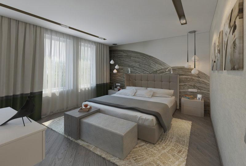 Bedroom in modern style (8)