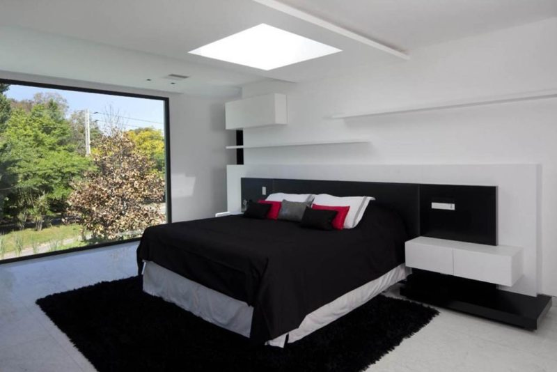 Bedroom Modern Bright Accent Monochrome Bedroom Ideas