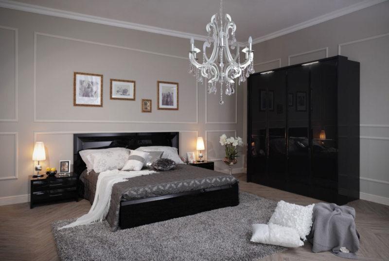 Черно-белая спальня (2)