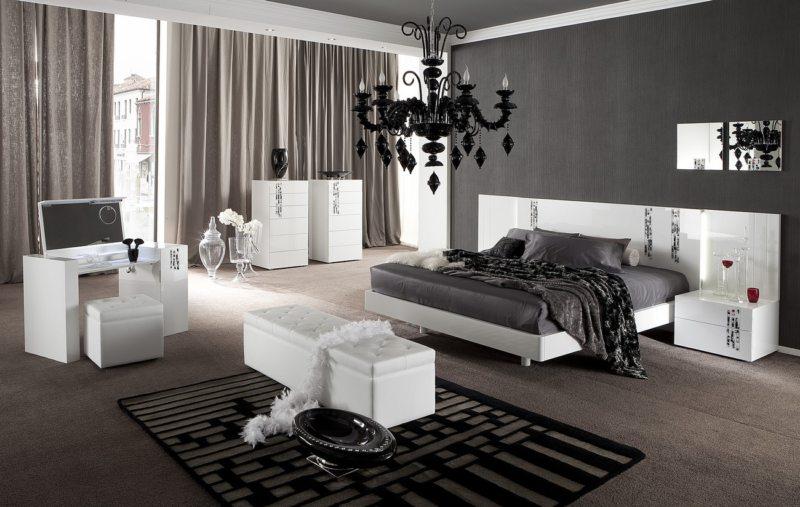 Черно-белая спальня (3)