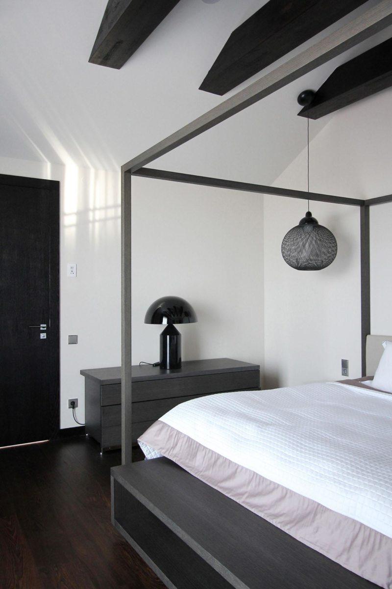 Черно-белая спальня (4)
