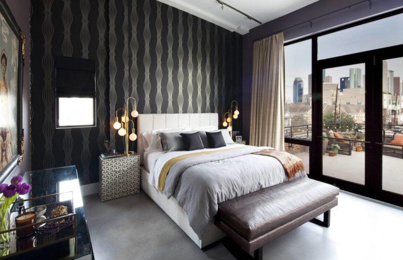 Черно-белая спальня (5)