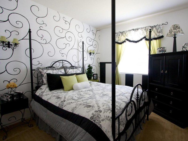 Черно-белая спальня (6)