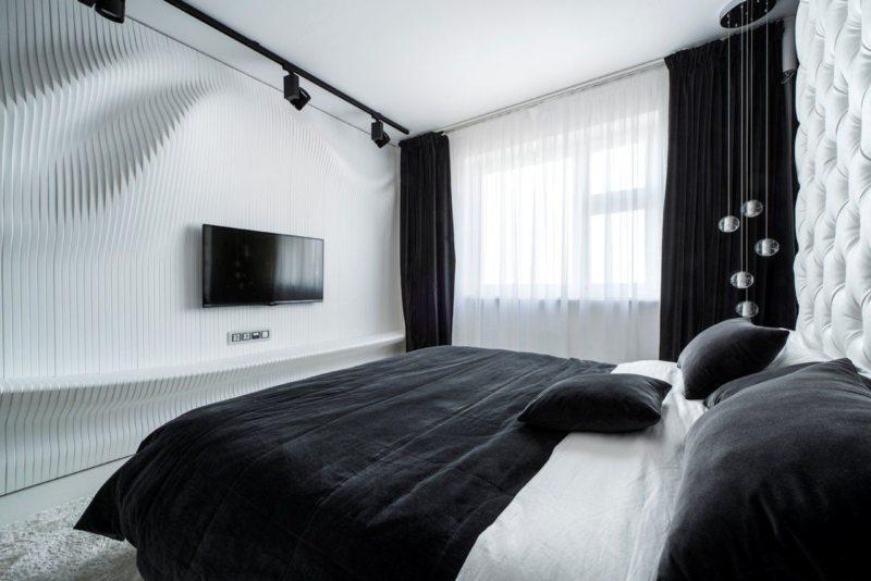 Черно-белая спальня (7)