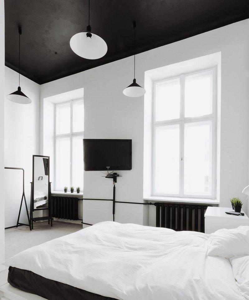Черно-белая спальня (8)