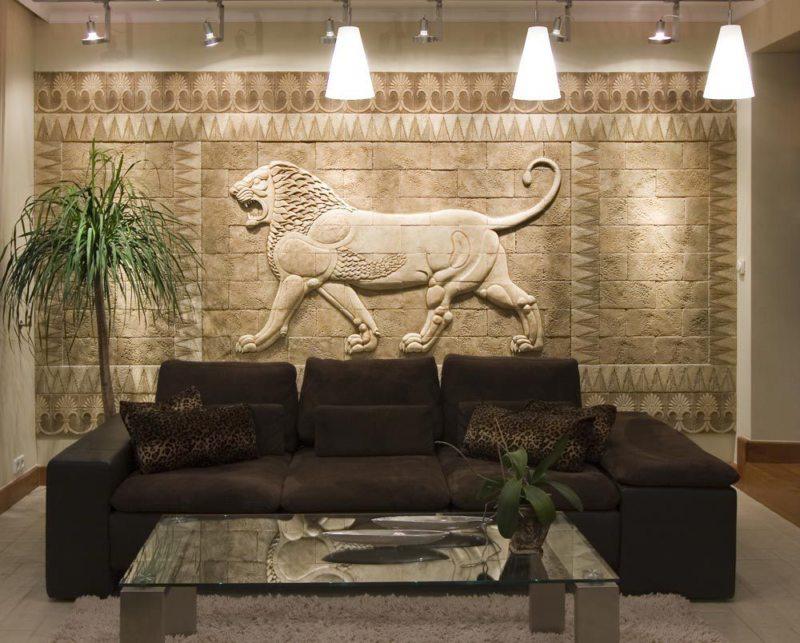 Декоративный камень в интерьере (14)
