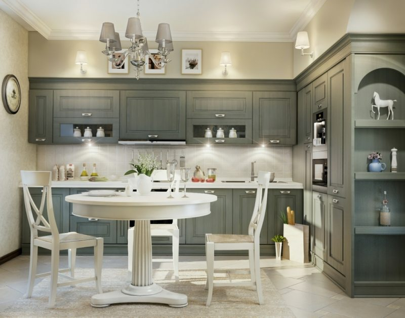 Image of Kitchen Paint Color In Grey