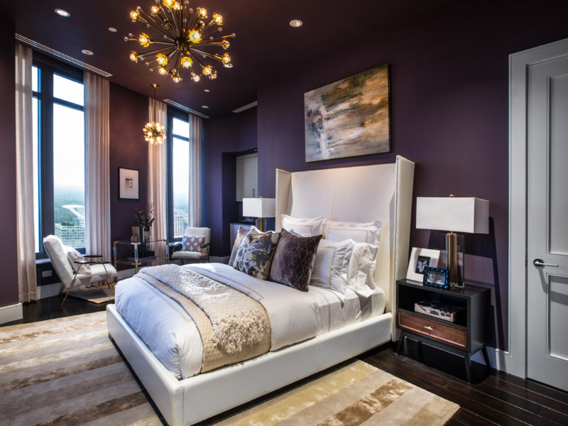 Master Bedroom of the HGTV Urban Oasis 2014 located in Atlanta, GA.