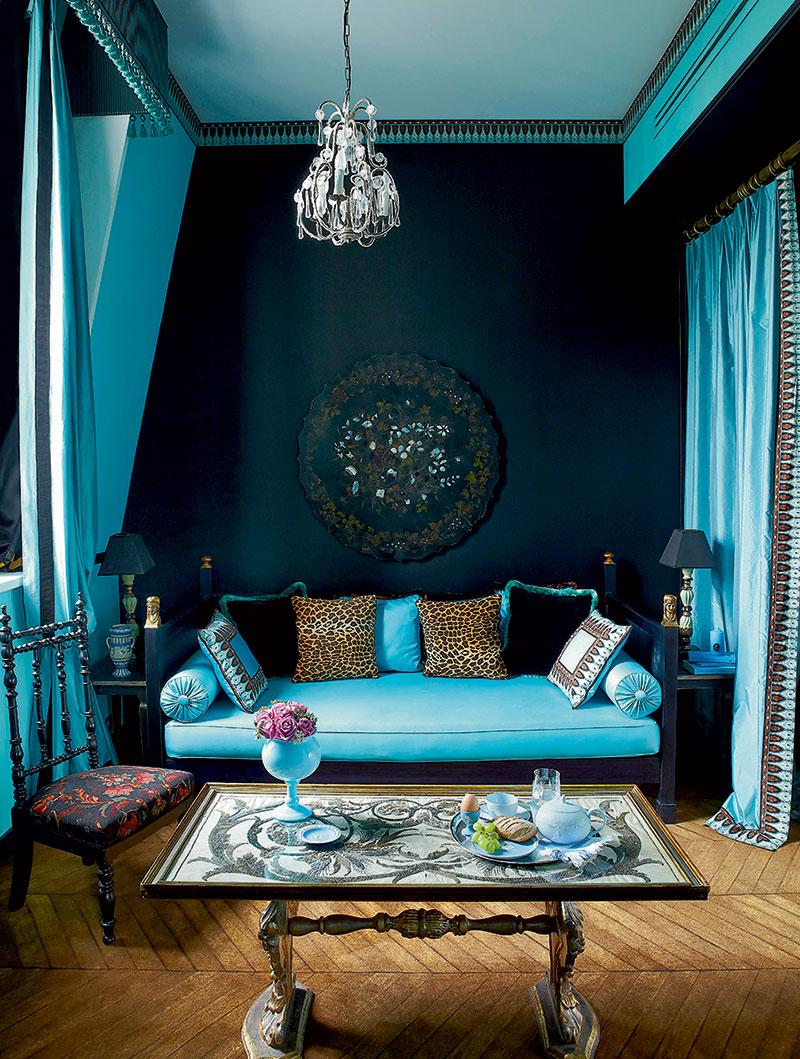 Гостиная бирюзового цвета (2)