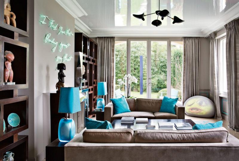 Гостиная бирюзового цвета (3)