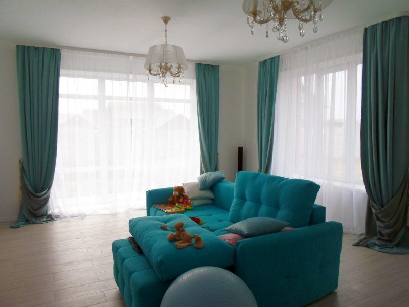 Гостиная бирюзового цвета (4)