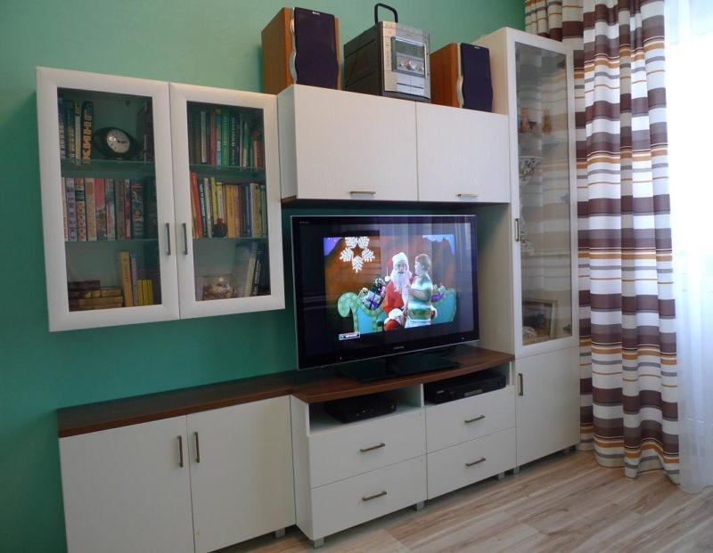 Гостиная бирюзового цвета (9)