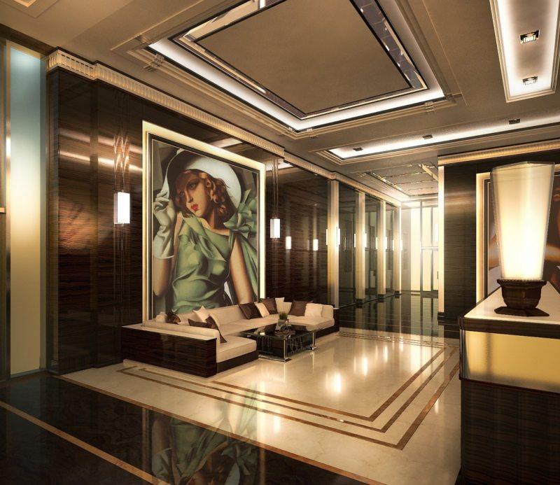 Гостиная в стиле арт-деко (4)