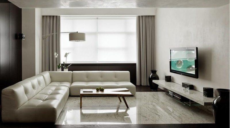 Гостиная в стиле минимализм (15)