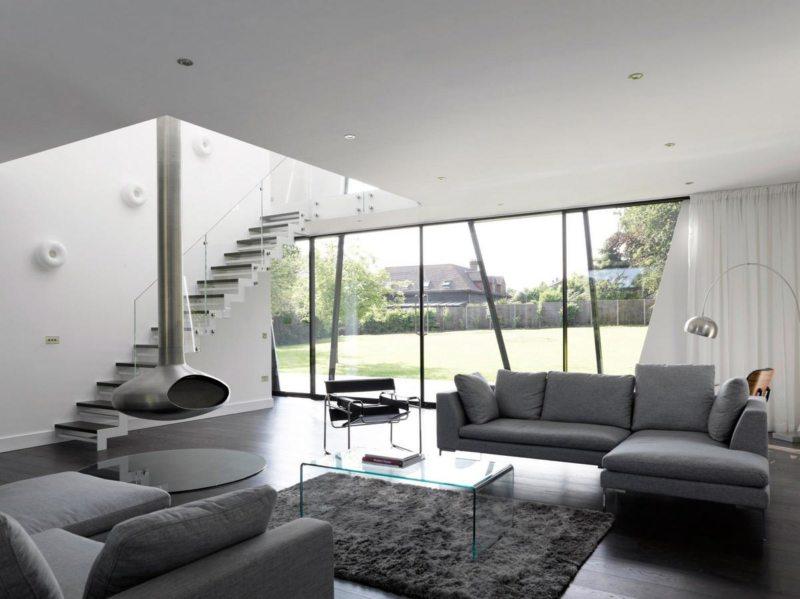Гостиная в стиле минимализм (2)