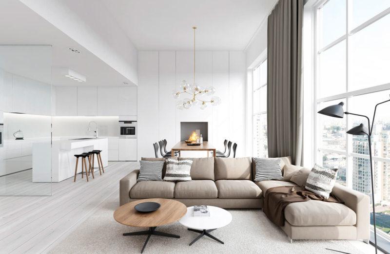 Гостиная в стиле минимализм (3)