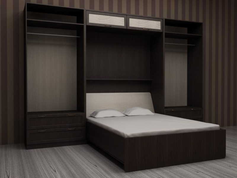 Кровать встроенная в шкаф (12)
