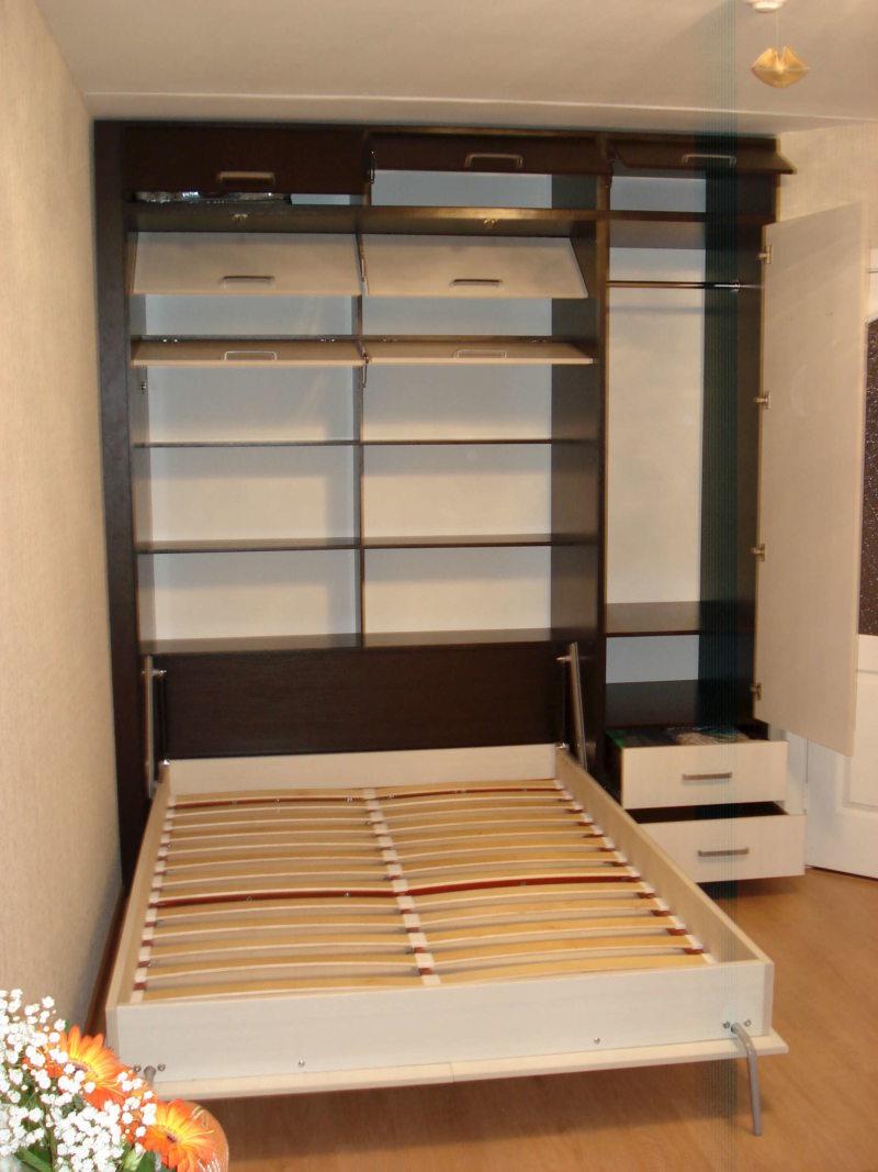 Кровать встроенная в шкаф (17)