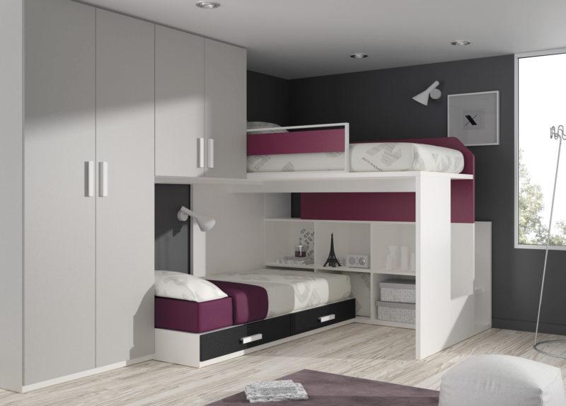 Кровать встроенная в шкаф (19)