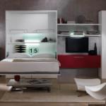 Кровать встроенная в шкаф (2)