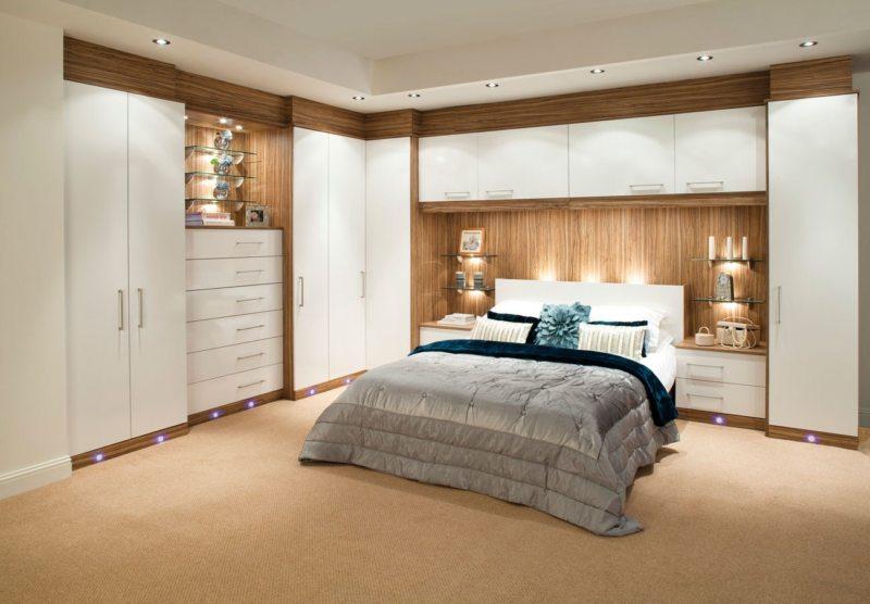 Кровать встроенная в шкаф (21)