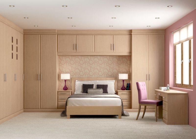 Кровать встроенная в шкаф (28)