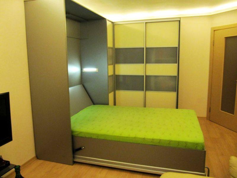 Кровать встроенная в шкаф (29)