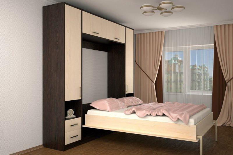 Кровать встроенная в шкаф (31)