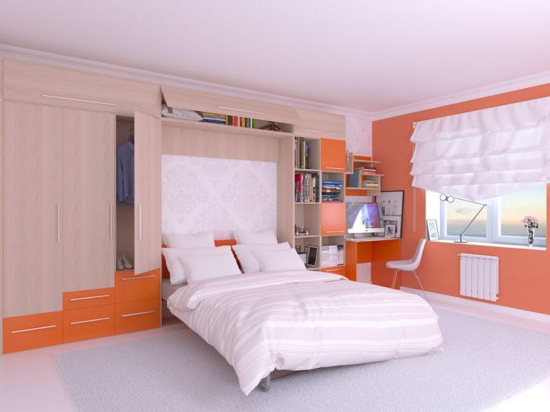Кровать встроенная в шкаф (32)