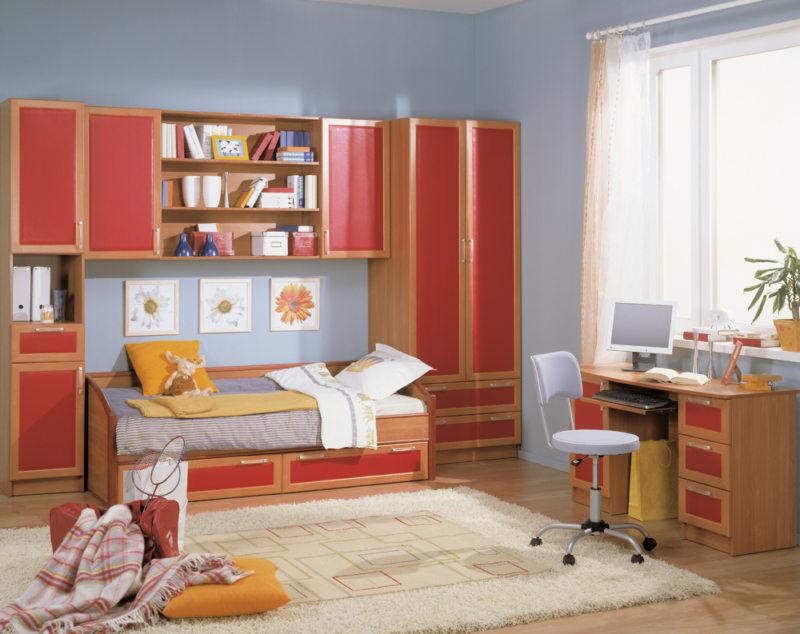 Кровать встроенная в шкаф (33)
