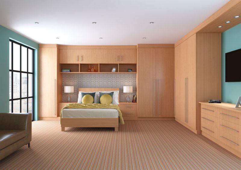 Кровать встроенная в шкаф (35)
