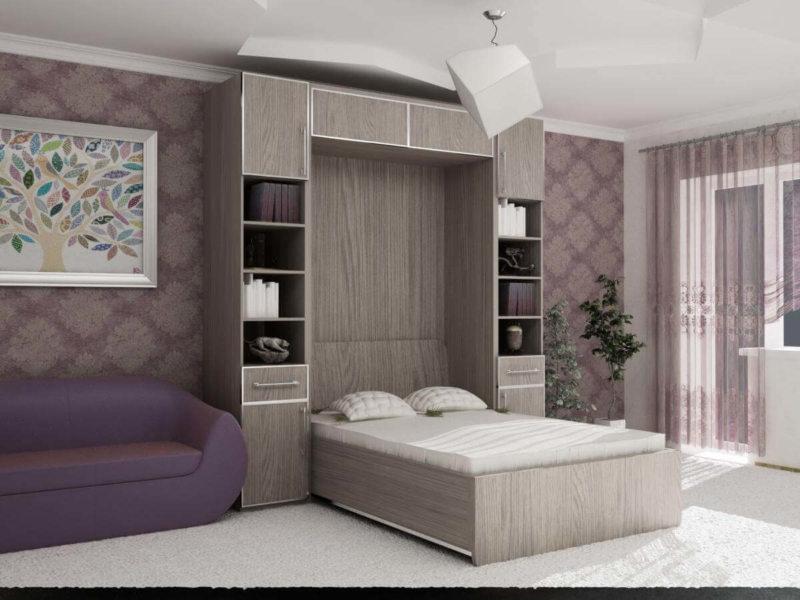 Кровать встроенная в шкаф (36)