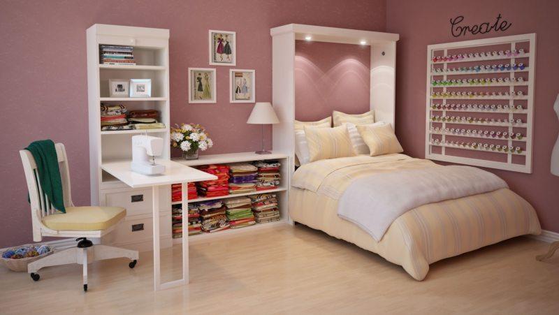 Кровать встроенная в шкаф (38)