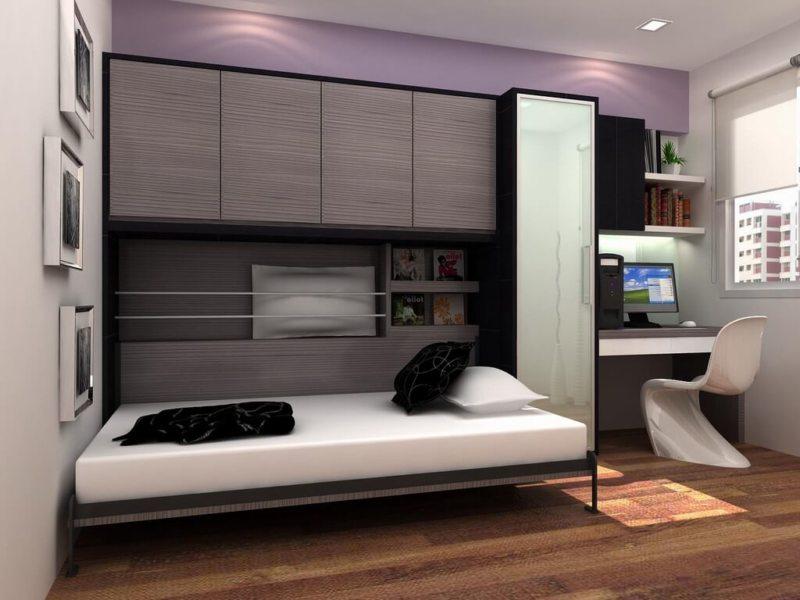 Кровать встроенная в шкаф (40)